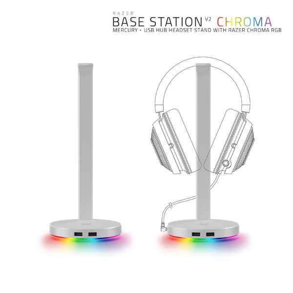 Razer Base Station Chroma V2 Mercury